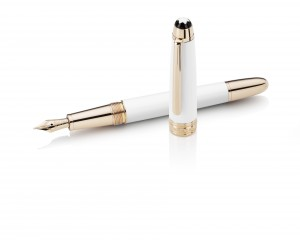Montblanc White Solitaire Fountain Pen