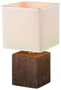 33250110-01-F01 Tischleuchte, Keramik Holzoptik, Textil, 15_28 cm, 12,99#7E92