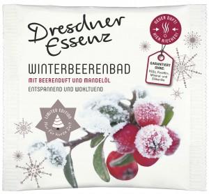 Tuete mit Badezusatz Winterbeerenbad Beerenduft und Mandeloel
