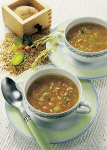 Gemüsesuppe mit Hafer