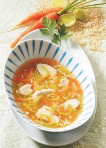 Hühnersuppe mit Reis
