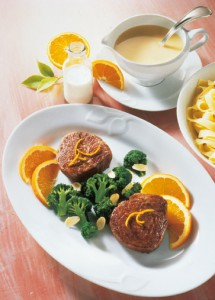 Rinderfilet in Orangensauce