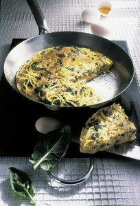 Spaghetti-Omelette