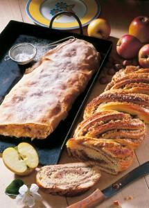 Nusszopf und Apfelstrudel