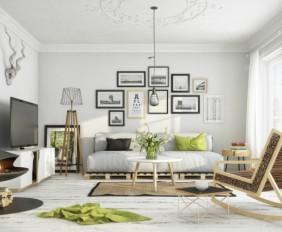 wohnen-skandinavisch-schwebender-kamin-gruen-decke-kissen-couch-weiss-bilder