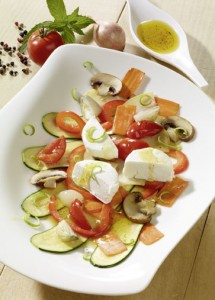 Gemüse-Carpaccio Ziegenkäse