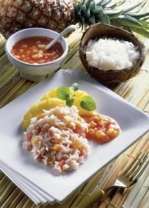 Tomaten-Ananas-Reis Hawaii
