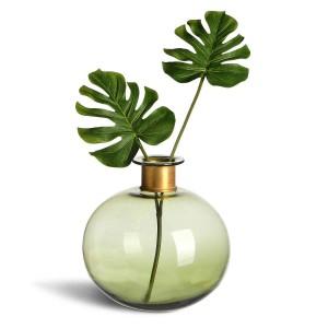DEPOT_Vase bauchig Glas dunkelgrün ca D 20 x H 21 cm_EUR 29,99