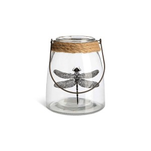 DEPOT_Windlicht Libelle Glas klar ca D 13 x H 15 cm_EUR 5,99