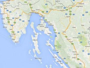 kvarner-bucht-map
