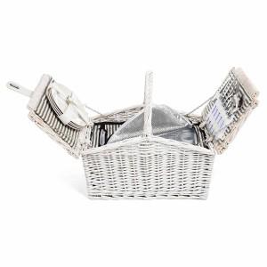 DEPOT_Picknickkorb für 4 Personen inkl Kühltasche weiß ca L 45 x B 30 x H 40 cm_EUR 69,99_2