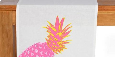 DEPOT_Tischläufer ANANAS pink ca B40xL150cm_EUR 8,99