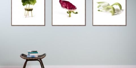 Art Edition 3 Motive Blue Wall Design
