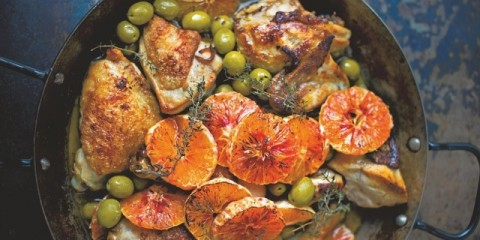 Hähnchen mit Marsala, Oliven und Blutorangen_S.35