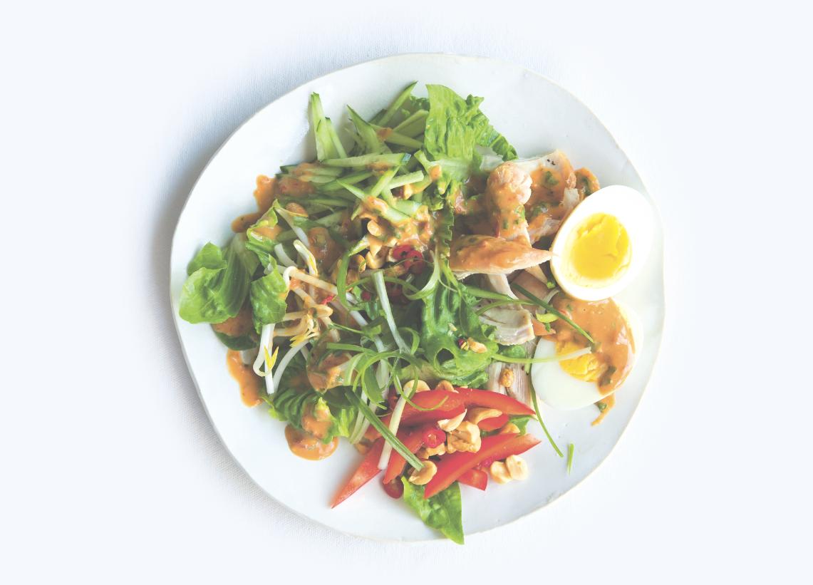 thai salat mit erdnuss dressing wellness magazin the. Black Bedroom Furniture Sets. Home Design Ideas