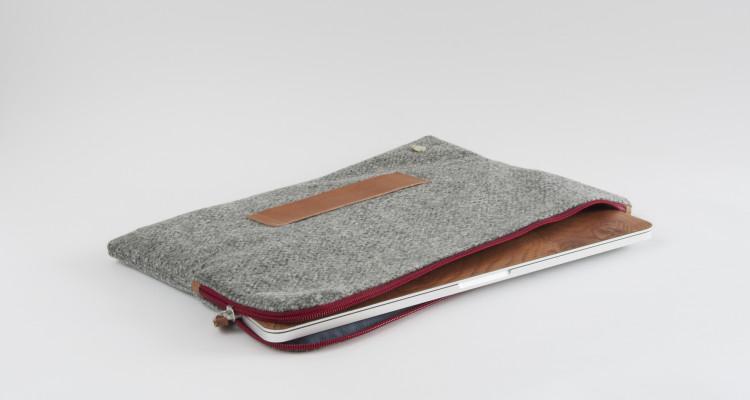 Mondschein Laptop-Tasche_Perl-Loden_rot