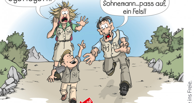 ÖAV_Cartoon Verantwortung_Familie