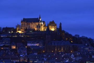 Germany_-_Austria_-_Switzerland_1262617_Georg-Kronenberg_Marburg_Schloss zu blauer Stunde_(C) Georg Kronenberg